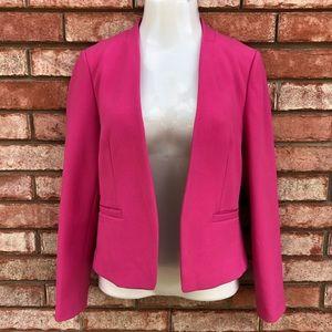 Ann Taylor LOFT hot pink open front blazer jacket